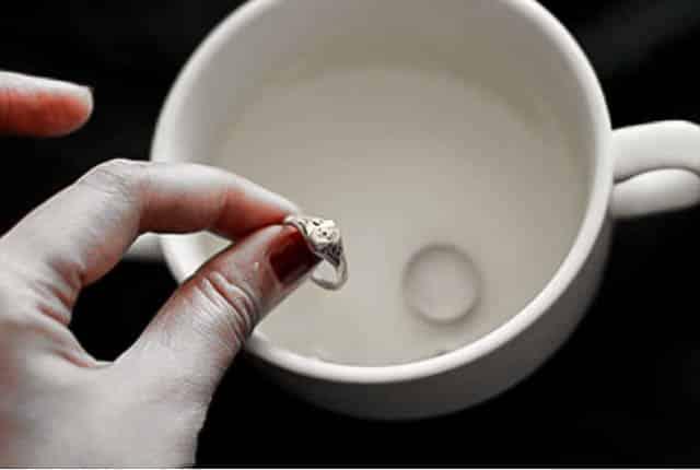 pulire i gioielli in argento
