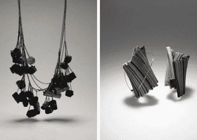 Yong Joo Kim - Collana e orecchini in Velcro